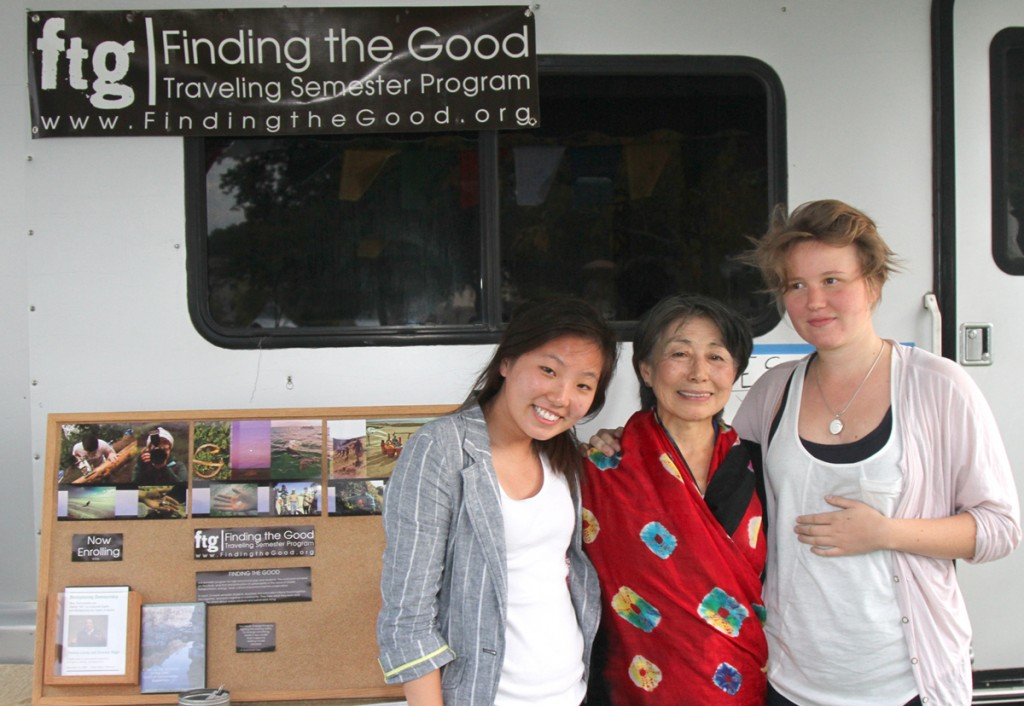 Skye at Bioneers with Lily Yeh and Annabelle